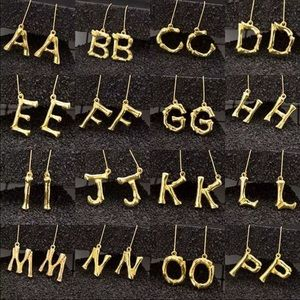 Jewelry - Bamboo letter earrings A - S - N - M and K